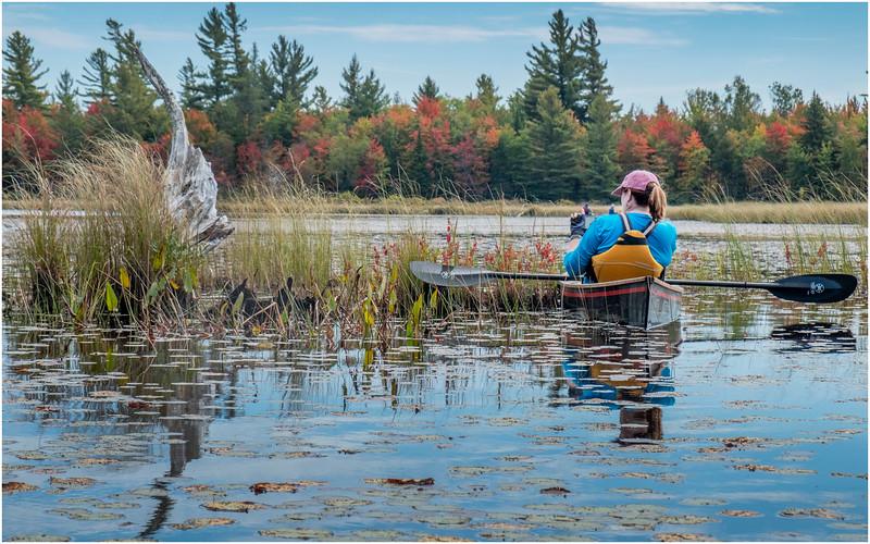 Adirondacks Bog River Hitchins Pond Kim 27 September 2019