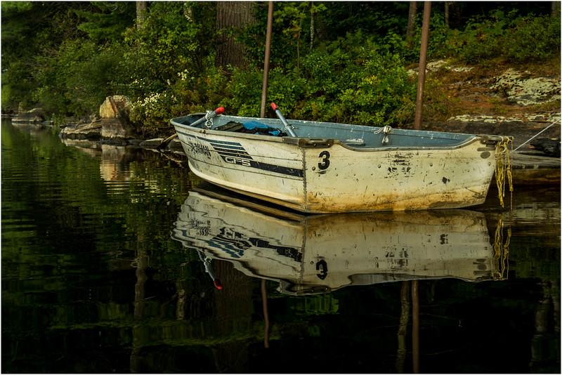 Adirondacks Forked Lake August 2015 Rowboat Docked at Site 42