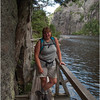 Adirondacks Avalanche Pass Trail Hiker Kim Shoreline Trail 2nd Hitchup Matilda 2 July 2012