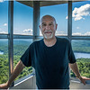 Adirondacks Bald Mountain Tom in Firetower 1 July 2016