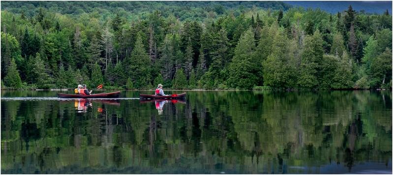 Adirondacks Newcomb Lake LEAG Paddlers 1 July 2017