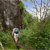 Adirondacks Avalanche Pass Hikers Height of Land with Colden Wall 2 July 2012