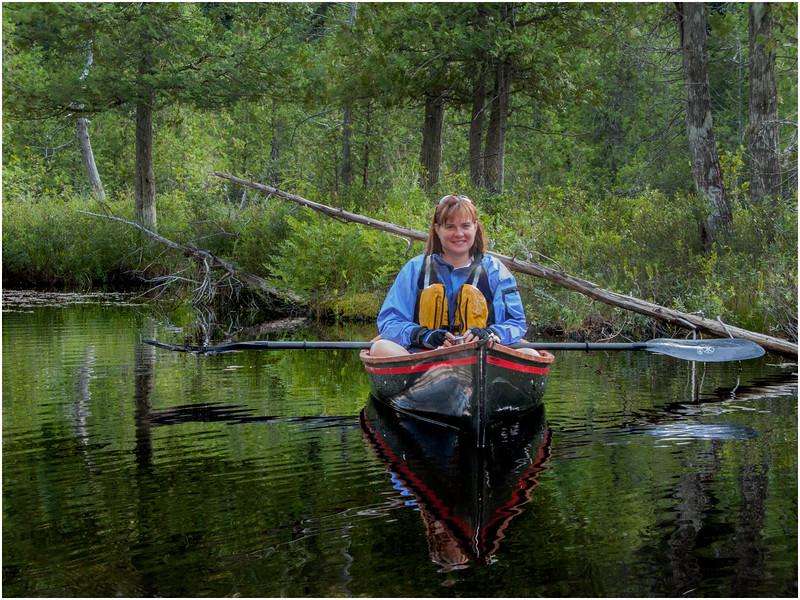 Adirondacks St Regis Long Pond Kim in Hornbeck 3 July 2009