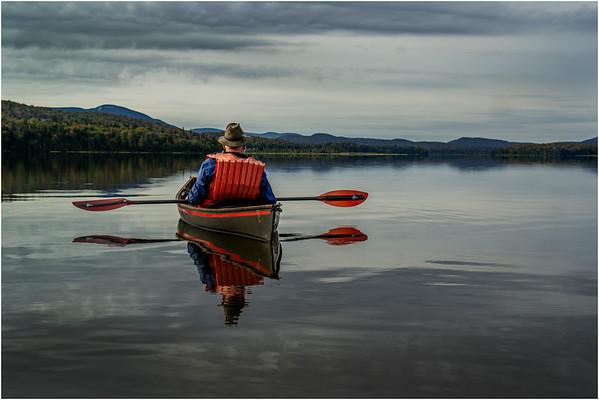 Adirondacks Cedar River Flow September 2015  Mike Prescott Paddling His Hornbeck 3