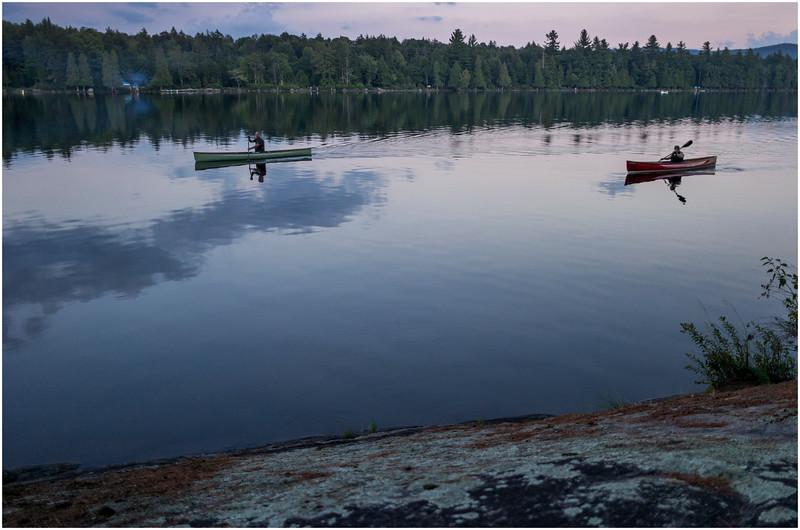 Adirondacks Forked Lake Paddling Past Campsite 36 August 2016