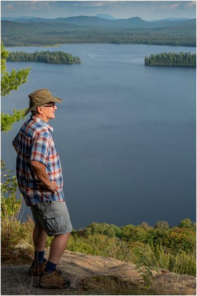 Adirondacks Lake Lila LEAG from Mt Frederica Rick Davidson 9 August 2019