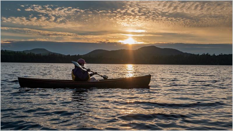 Adirondacks Rollins Pond Sunset Kim 6 July 2019