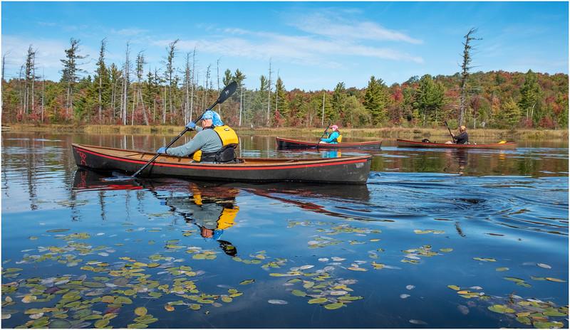 Adirondacks Bog River Paddle HBL 3 Matt Holcomb Kim Bessette, Steve Shutts September 2019