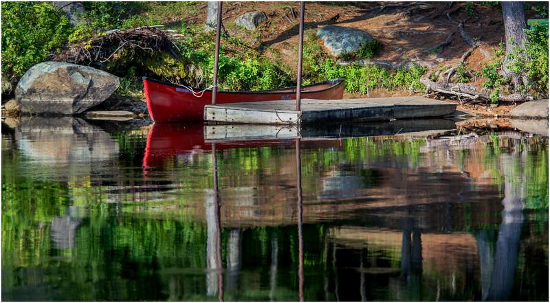 Adirondacks Forked Lake Campsite 36 Dock 1 August 2016