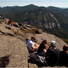 Adirondacks Algonquin Summit Hikers Lunching and Viewing September 2010
