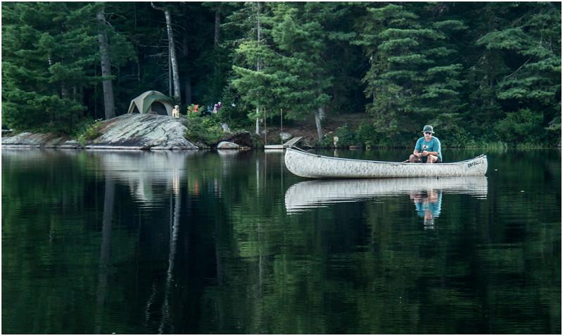 Adirondacks Forked Lake Fisherman Campsite 36 2 August 2013