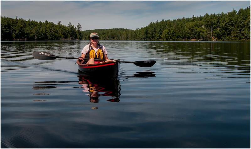 Adirondacks St Regis Long Pond Kim in Hornbeck 6 July 2009