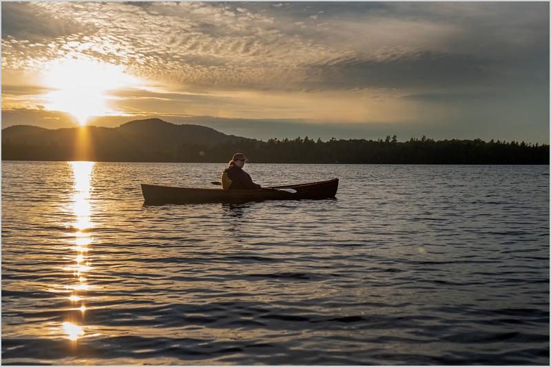 Adirondacks Rollins Pond Sunset Kim 2 July 2019