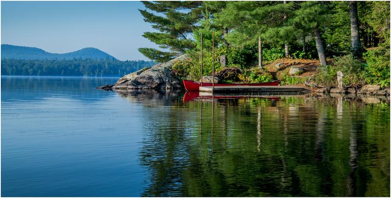 Adirondacks Forked Lake Campsite 36 Dock 2 August 2016