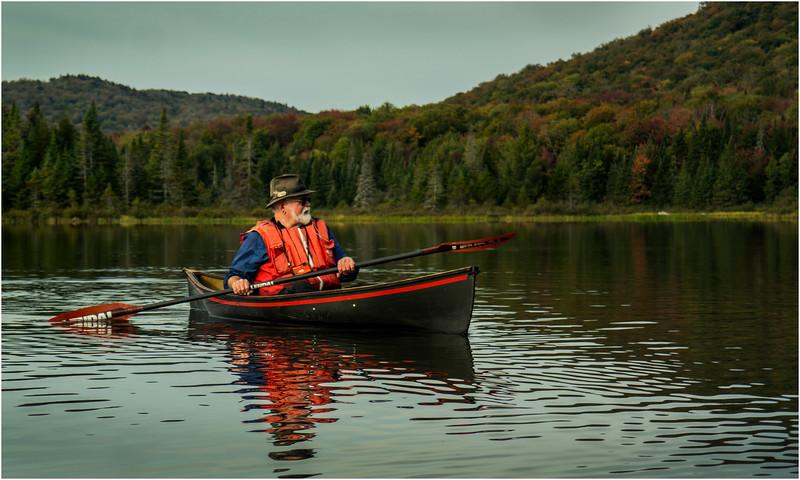 Adirondacks Cedar River Flow September 2015  Mike Prescott Paddling His Hornbeck 1
