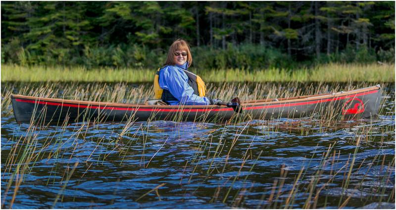 Adirondacks Cedar River Flow Kim Paddling in Reeds September 24 2016