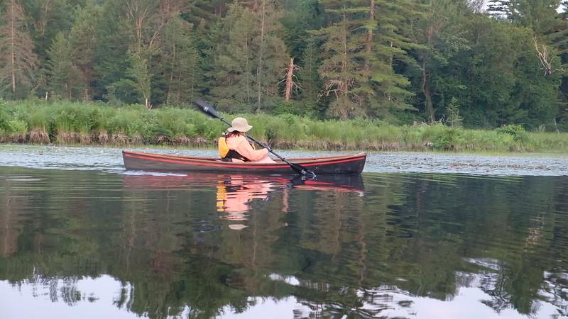 Adirondacks Round Lake Paddling video 5 August 2019