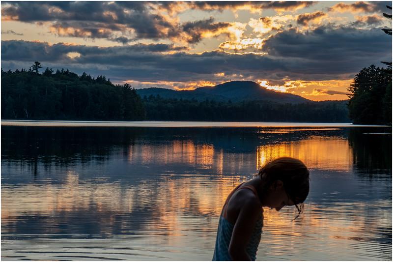 Adirondacks Rollins Pond Evening 17 August 2019