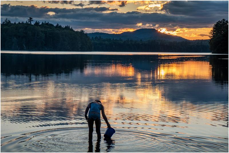 Adirondacks Rollins Pond Evening 18 August 2019