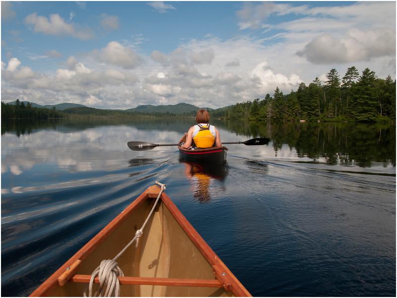 Adirondacks Forked Lake Kim Paddling to West End July 2010