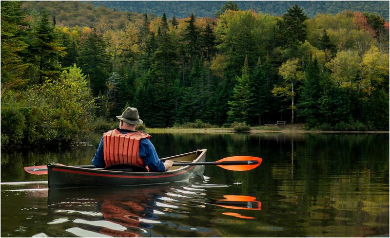 Adirondacks Cedar River Flow September 2015  Mike Prescott Paddling His Hornbeck 2