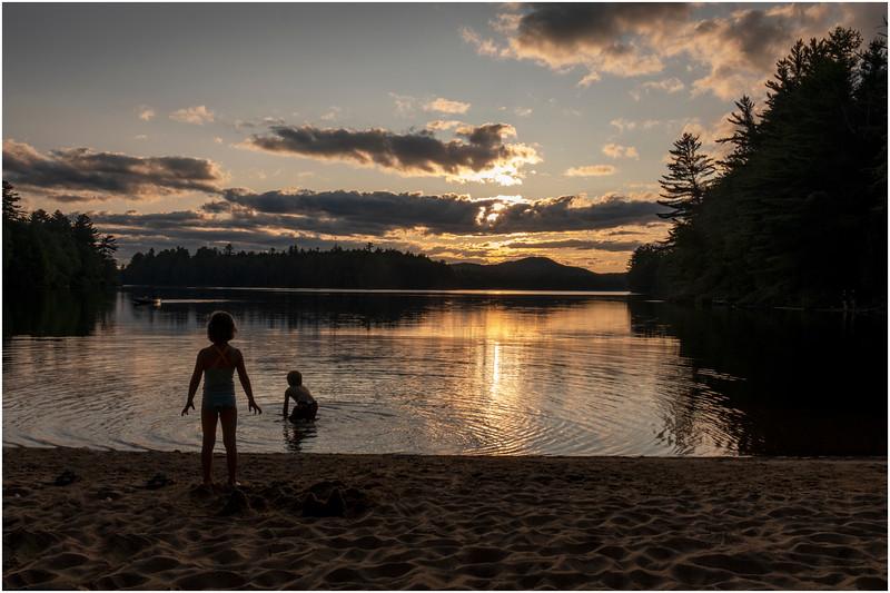 Adirondacks Rollins Pond Evening 11 August 2019