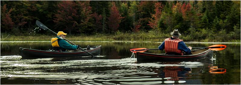 Adirondacks Cedar River Flow September 2015  Mike Prescott and Rick Rosen in Hornbecks 3