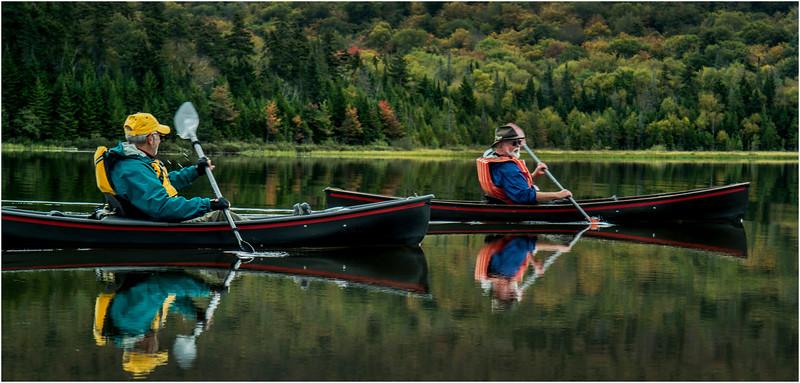 Adirondacks Cedar River Flow September 2015  Mike Prescott and Rick Rosen in Hornbecks 5