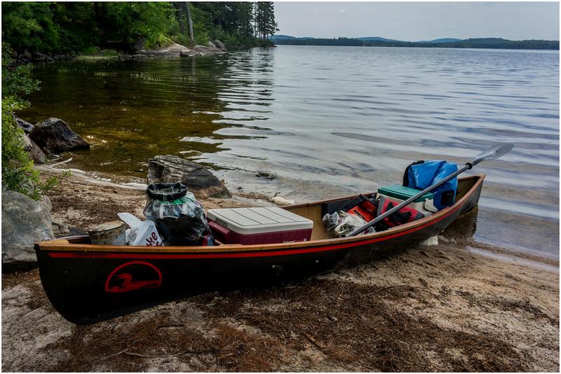Adirondacks Round Lake Whitney Wilderness My 12' Low, loaded July 2016