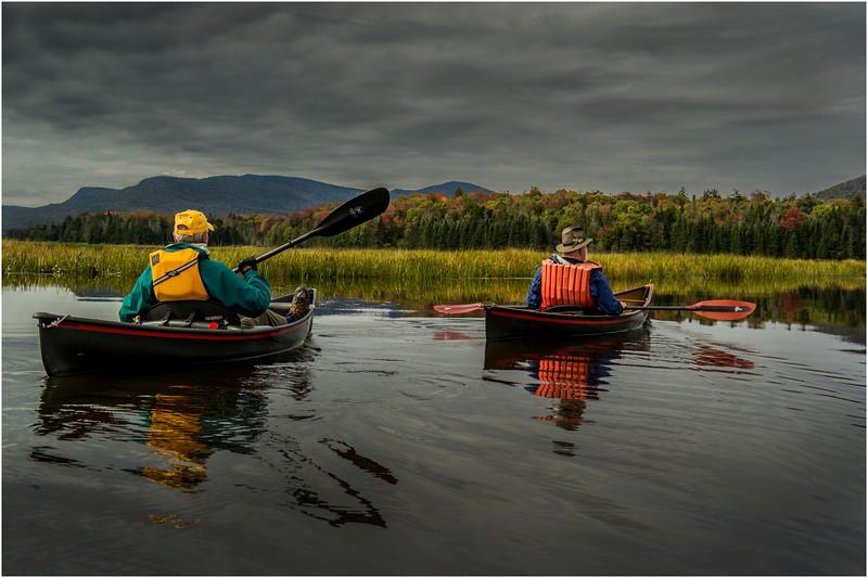 Adirondacks Cedar River Flow September 2015  Mike Prescott and Rick Rosen in Hornbecks 6