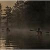 Adirondacks Bog River Morning Mist Sunrise Two Paddlers August B 2013