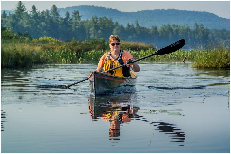 Adirondacks Forked Lake Kim Paddling 2 August 2016