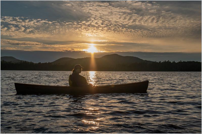 Adirondacks Rollins Pond Sunset Kim 5 July 2019