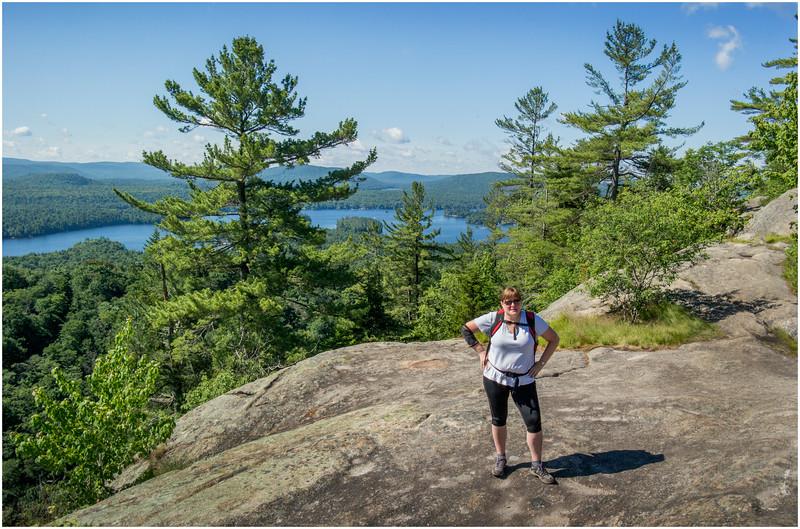 Adirondacks Bald Mountain Kim and First Lake July 2016
