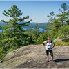 Adirondacks Bald Mountain Kim and First Lake July 2016