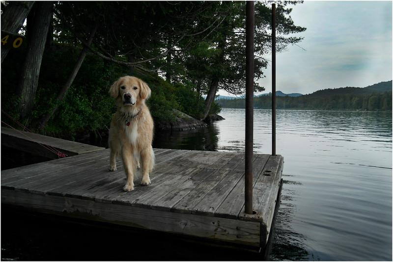 Adirondacks Forked Lake Brody Dock 1 July 2012