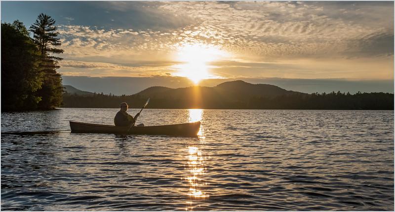 Adirondacks Rollins Pond Sunset Kim 3 July 2019