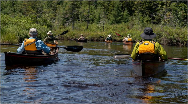 Adirondacks Forked Lake July 2015 Brandreth Inlet Hornbeck Flotilla 2 Rosen, Curley, Way, McKibben, Davidson and Hornbeck