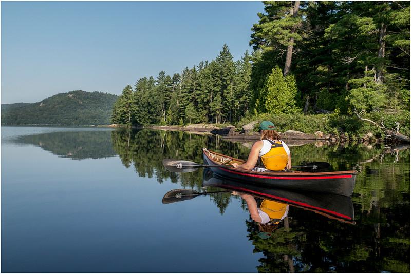 Kim Floating Along the North Shore Lake Lila July 2013