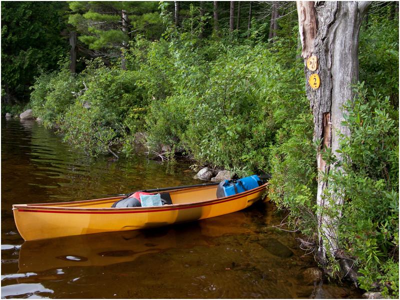 Adirondacks Little Tupper Lake Northwest Shore Hornbeck Boat July 2007