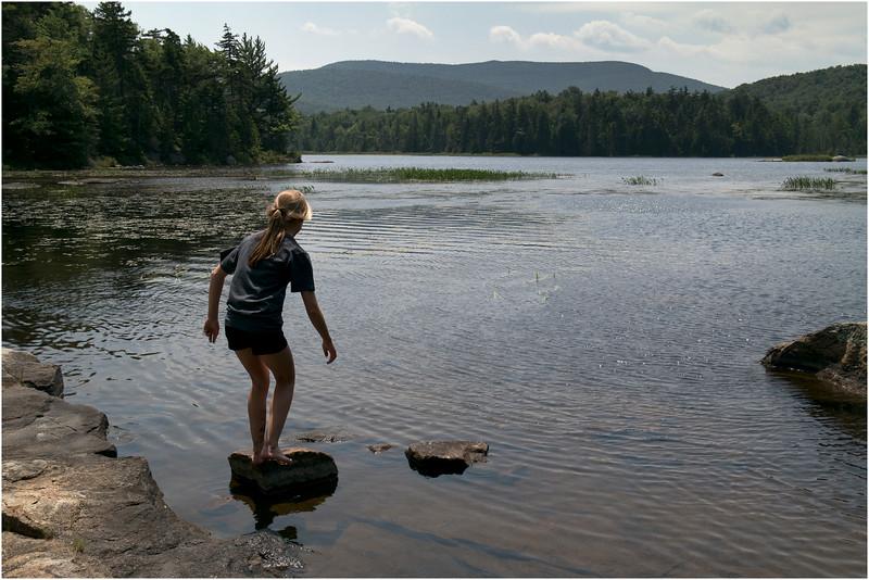 Adirondacks Blue Mountain Lake Cascade Pond Jenna Stepping Rock July 2012