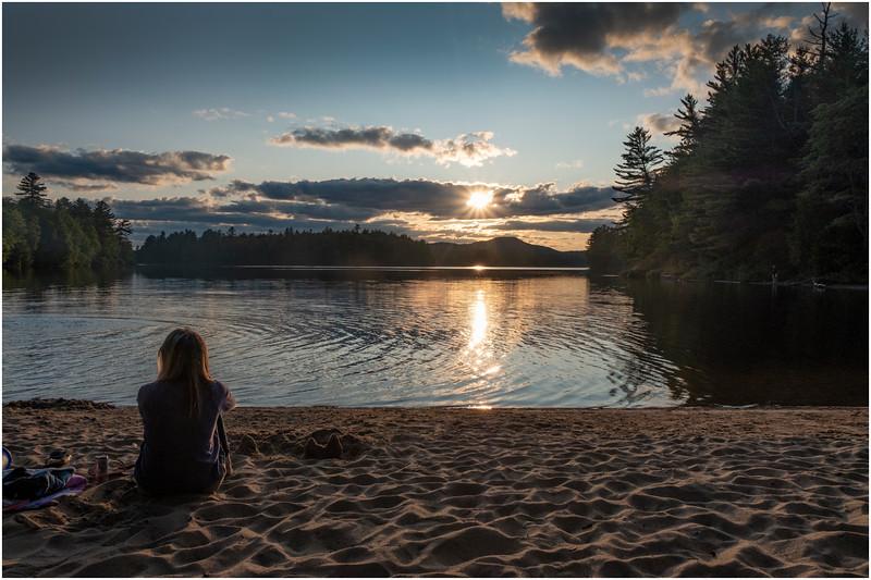 Adirondacks Rollins Pond Evening 14 August 2019