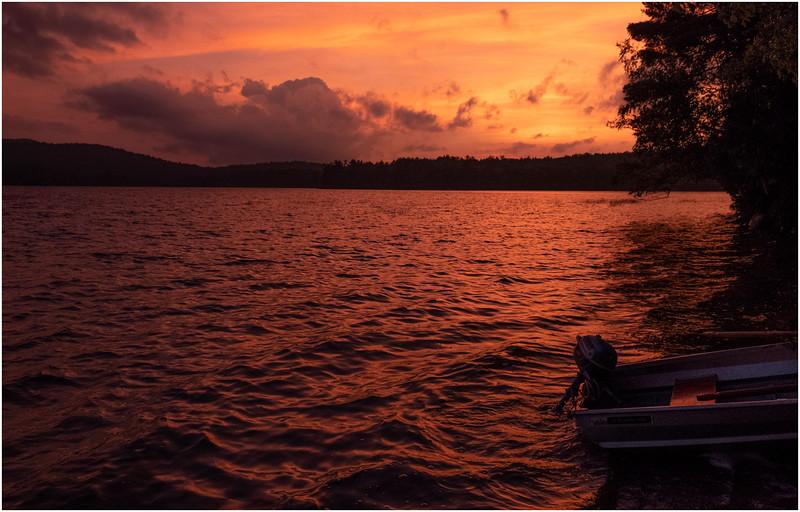 Adirondacks Lake Eaton Sunset 6 July 2019