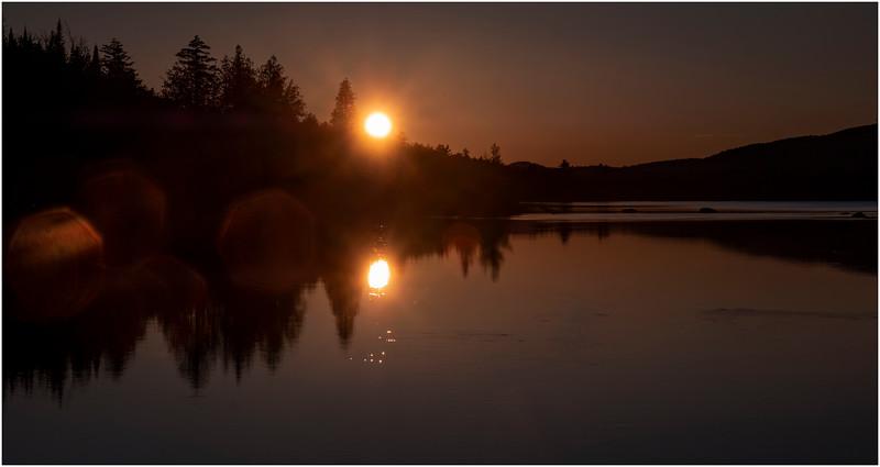 Adirondacks Forked Lake Sunset 4 October 2019