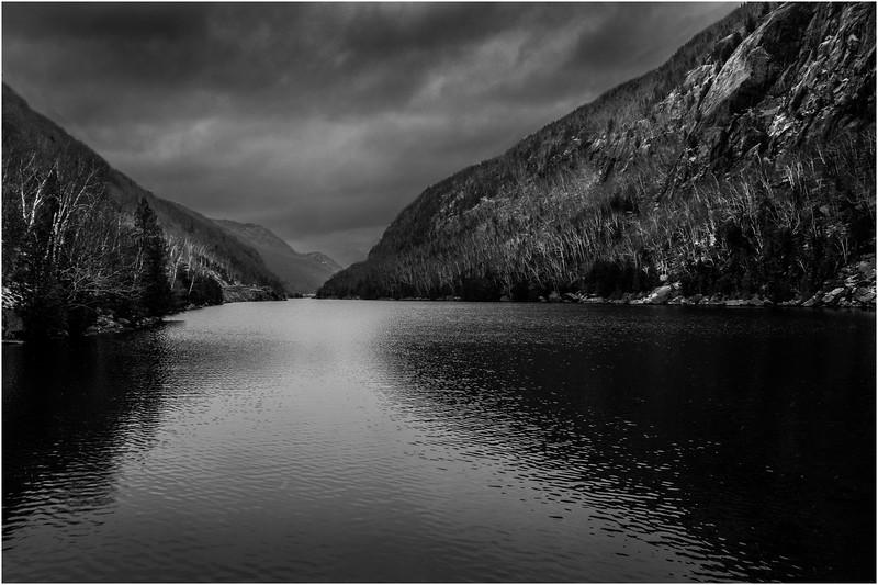Adirondacks Keene November 2015 Cascade Lake 1 BW