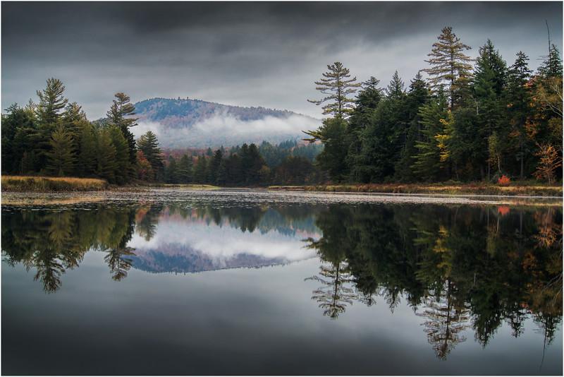 Adirondacks Whitney Wilderness Round Lake Stormy Shoreline 1 September 2013