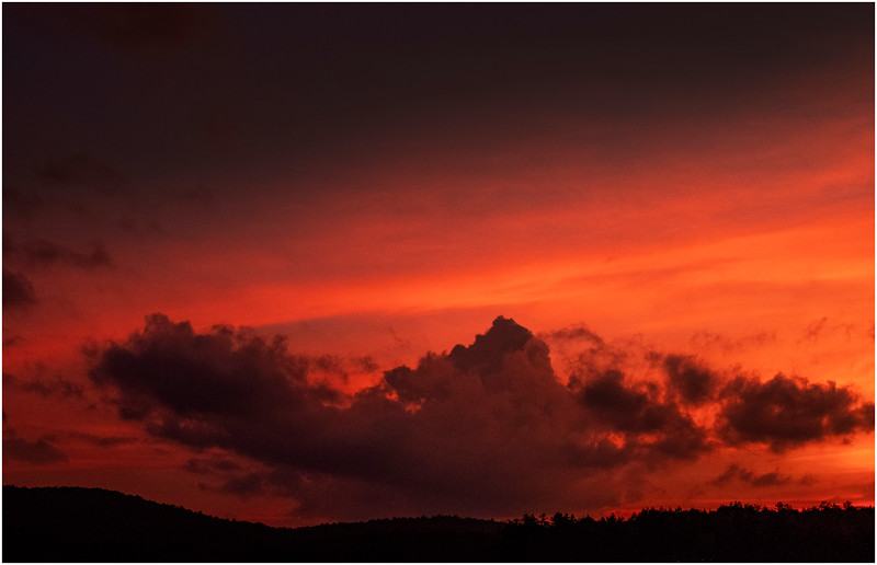 Adirondacks Lake Eaton Sunset 10 July 2019