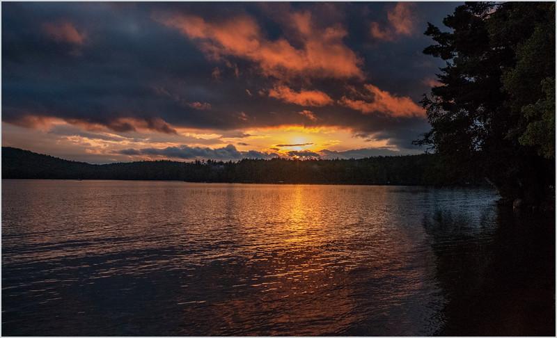 Adirondacks Lake Eaton Sunset 4 July 2019