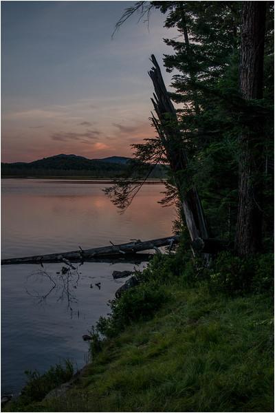 Adirondacks Forked Lake July 2015 Sunset West End Grassy Bluff Site
