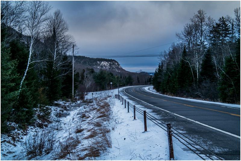 Adirondacks Indian Lake Route 28 Heading East December 2016
